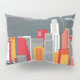 Los Angeles, California - Skyline Illustration by Loose Petals Pillow Sham