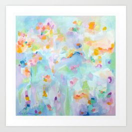 Stone Harbor Floral Abstract  Art Print