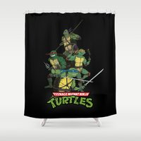tmnt Shower Curtains featuring TMNT by Neal Julian