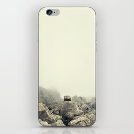 Misty rocks iPhone Skin