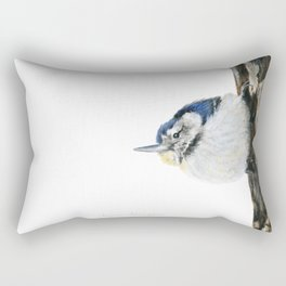 Cutie Pie the Nuthatch by Teresa Thompson Rectangular Pillow