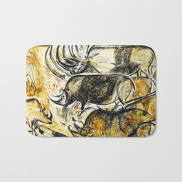 Panel of Rhinos // Chauvet Cave Bath Mat