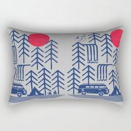 Camping Days / Van nature minimal birds sun Rectangular Pillow