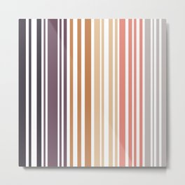 Simple murky Lines Minimalist Metal Print