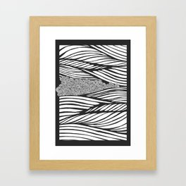 without colours Framed Art Print