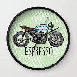 Espresso - Cafe Racer Wall Clock