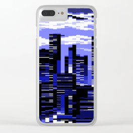 pxl cityscape Clear iPhone Case