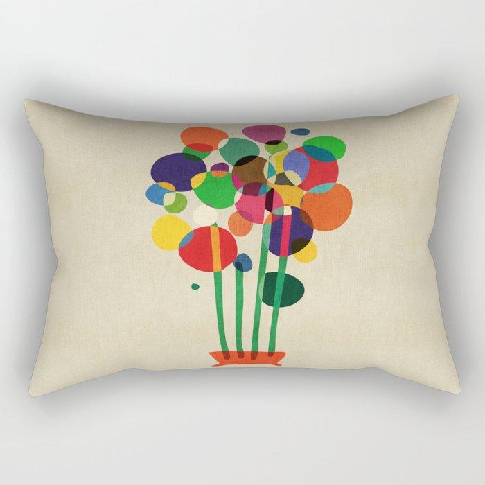 Happy flowers in the vase Rectangular Pillow
