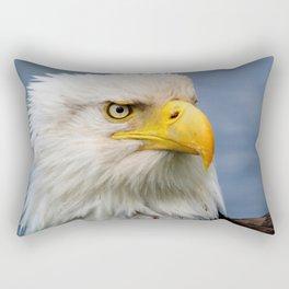 American Bald Eagle Portrait Rectangular Pillow