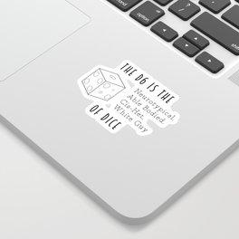 The D6 Sticker