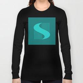 """""""S"""" Drop Cap Long Sleeve T-shirt"""