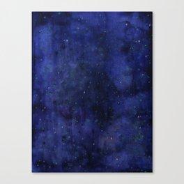 Galaxy Watercolor Nebula Texture Night Sky Stars Canvas Print