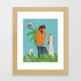 Lumberjack Blues Framed Art Print