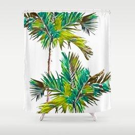 Fishtail Palm Trees Shower Curtain