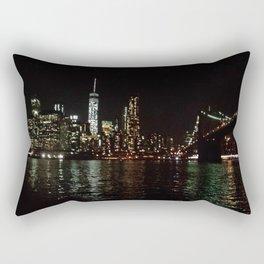 Night Skyline Rectangular Pillow