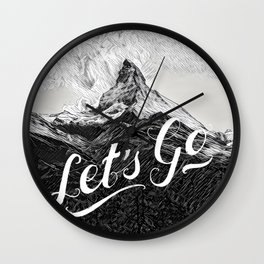 Let's Go Wall Clock