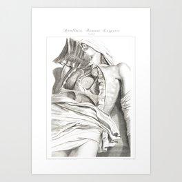 Human Anatomy Art Print LUNG AORTA HEART Vintage Anatomy, doctor medical art, Antique Book Plate, Me Art Print