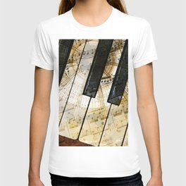 Piano Keys Music Collage abstract T-shirt