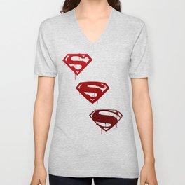 Three Supermen Unisex V-Neck