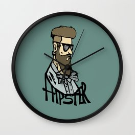 Hipster head Wall Clock