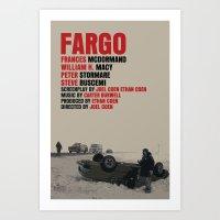 fargo Art Prints featuring Fargo Movie Poster  by FunnyFaceArt