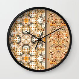 Boho Floral Fantasy Pattern Wall Clock
