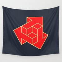arrow Wall Tapestries featuring Arrow by Dizzy Moments