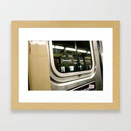 Subway Ride Framed Art Print