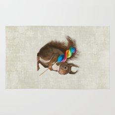 Squirrel with lollipop Rug