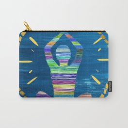 Inner Peace - A Modern Abstract - A person Meditating Carry-All Pouch