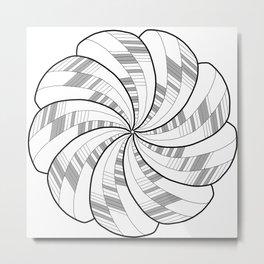 Twisted Bloom Metal Print