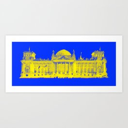 German Reichstag Dots Art Print