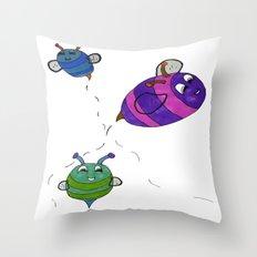 Bees Go Buzz Buzz Throw Pillow