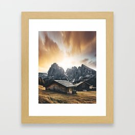 seiser alm Framed Art Print