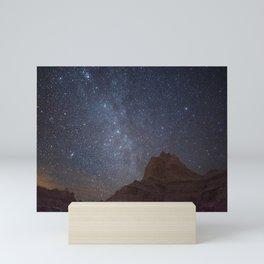 Milky Way over Badlands National Park Mini Art Print