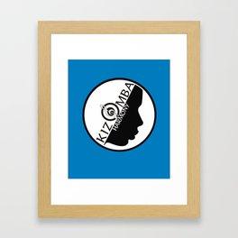 Kizomba Harmony blue Framed Art Print