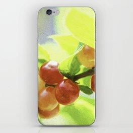 nanking cherry iPhone Skin