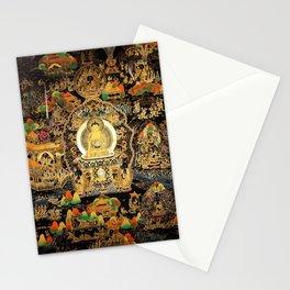 Buddha Life Autumn Gold Thangka Stationery Cards