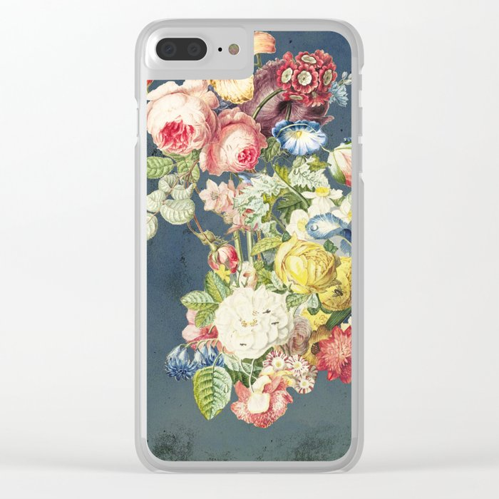 Floral Tribute to Louis McNeice Clear iPhone Case