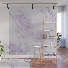 Marble Love Purple Metallic Wall Mural