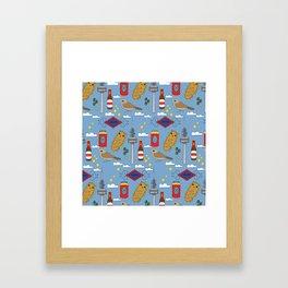 Madrid Pattern Framed Art Print
