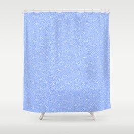 Blue Starfish Illustration Shower Curtain