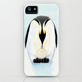 Penguin Dad and his Egg iPhone Case