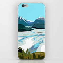 Dart River Valley, Glenorchy iPhone Skin