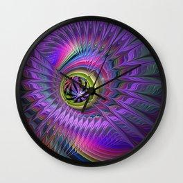 Peacock eye Wall Clock