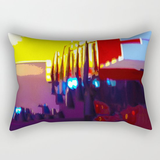 At The Bowling Alley Rectangular Pillow