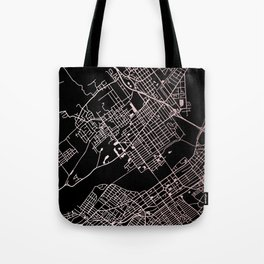 Wilkes-Barre Rose Gold and White Map Tote Bag