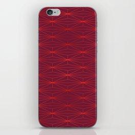 ELEGANT BEED RED TANGERINE PATTERN v3 iPhone Skin