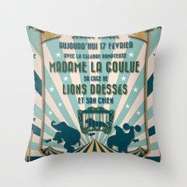 CIRQUE PRICE BLEU Throw Pillow