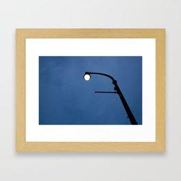 Streetlamp at twilight Framed Art Print